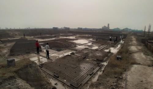 LIBRARY- footing steel work in progress 05.01.2021