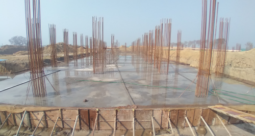 Academic block – 2nd pit RCC raft work in completed 08.02.2021