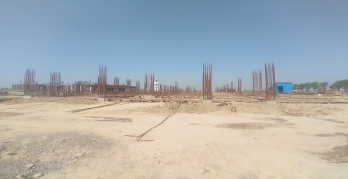 Academic block – 2nd pit soil filling work in completed grade slab works in progress 26.04.2021