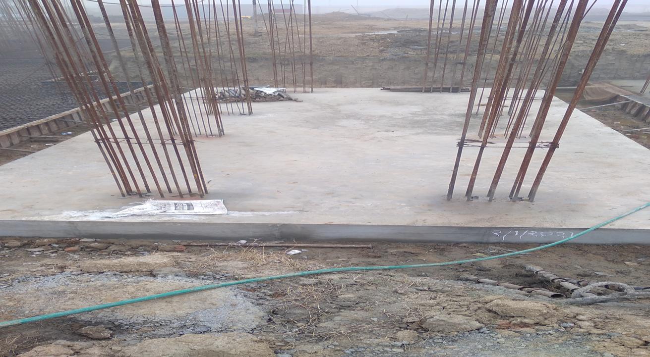 Hostel Block H2 – Raft RCC work Completed 18.01.2021