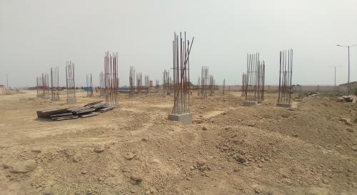 COMMUNITY CENTER – soil filling work in progress  04.05.2021