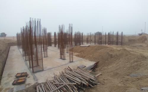 Associate Professors Residence – Raft RCC work Completed layout in progress 16.02.2021