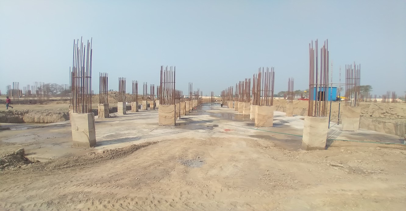 Academic block – 2nd pit column casting work in completed 09.03.2021