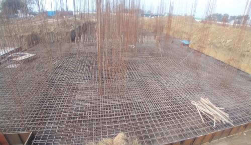 Hostel Block H7 – Steel placing & binding work – Column work in complete 05.01.2021