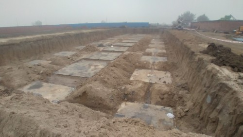 HVAC PLANT ROOM -  Footing PCC work completed & layout in progress 18.01.2021