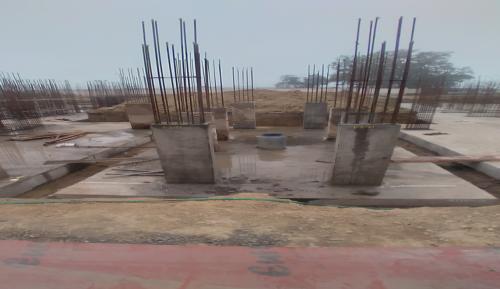 Hostel Block H2 –  column casting completed 16.02.2021