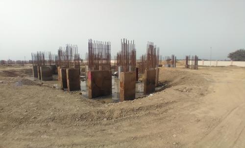 Non Teaching Staff Residence –  steel work in progress shear wall casting work in progress 15.03.2021
