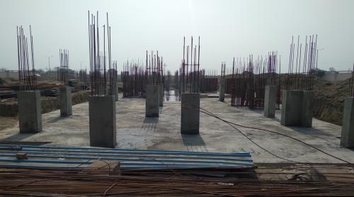Professor's residenceProfessor's residence – Raft RCC work Completed column casting work in progress 23.02.2021