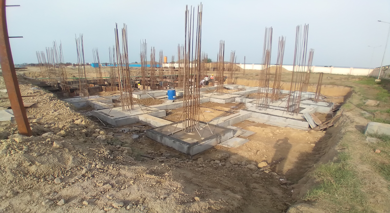 COMMUNITY CENTER -Footing casting works in progress 22.03.2021