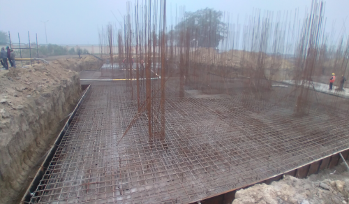 Hostel Block H1  – Raft RCC work in H1 –progress 11.01.2021