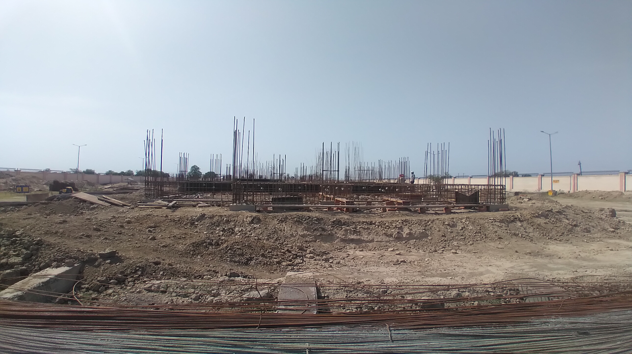 Professor's residence – Raft RCC work Completed column casting work in completed soil filling work in completed 12.04.2021