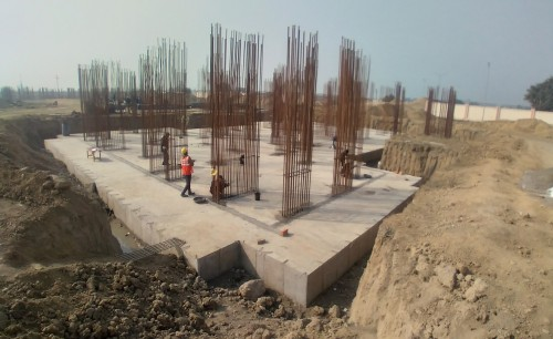Non Teaching Staff Residence –  Raft RCC work Completed layout in progress 01.02.2021