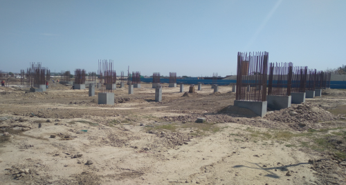 SPORTS COMPLEX –  column casting work in completed 19.04.2021