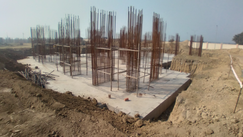 Non Teaching Staff Residence –  Raft RCC work Completed layout in progress 08.02.2021