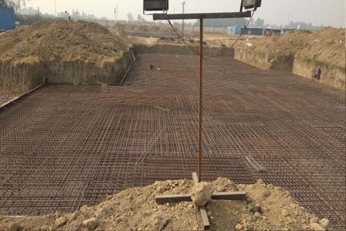 Hostel Block H7 – Steel placing & binding work second leyer work in complete (9-11-2020)