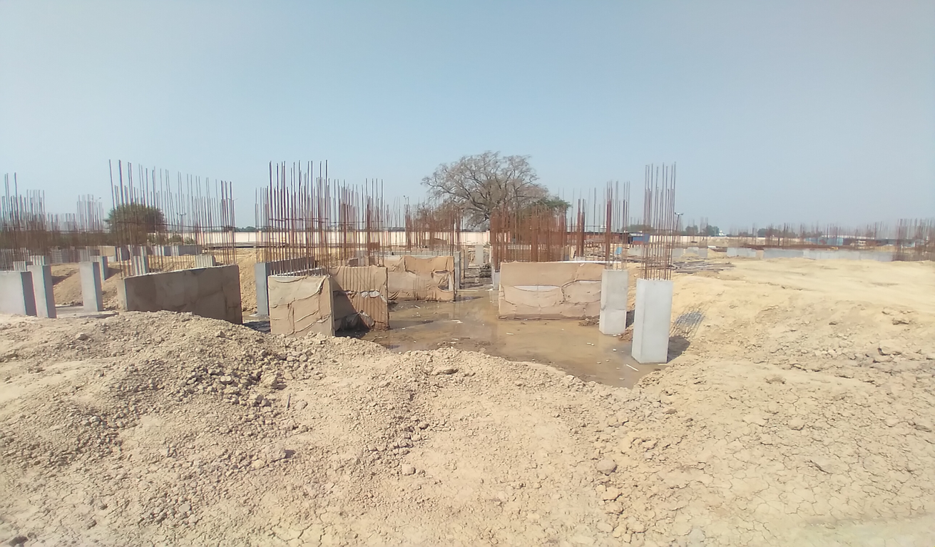 Hostel Block H3 – Column casting work in Completed 30.03.2021
