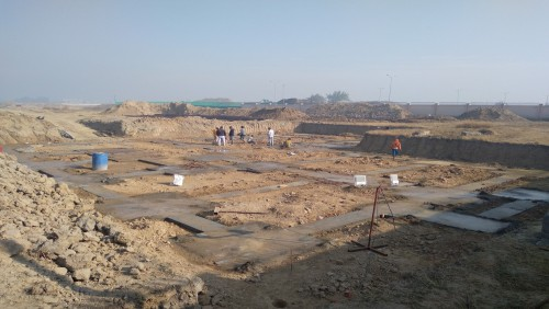 COMMUNITY CENTER -Excavation completed, PCC in progress (01-12-2020)