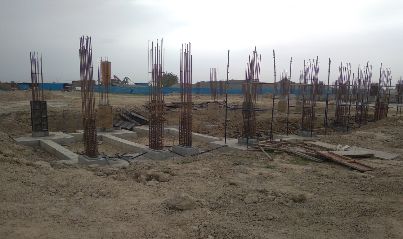 HEALTH CENTRE-  Footing RCC work and  in completed column casting work in progress 05.04.2021