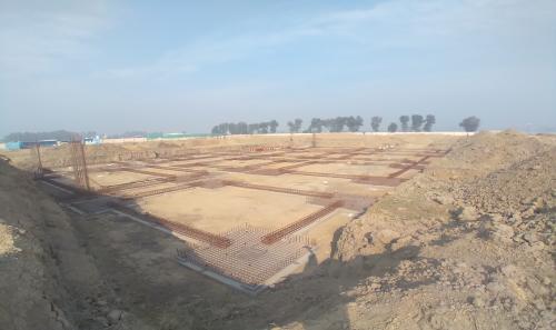 Dinning block – Footing steel work in progress -(08-12-2020).