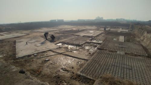 LIBRARY- footing steel work in progress (21.12.2020)