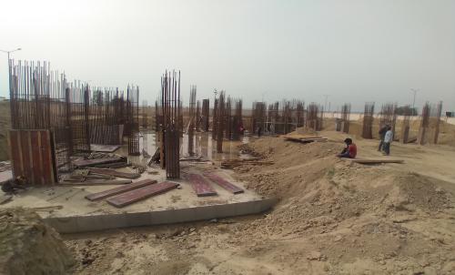 Associate Professors Residence –  Steel work in progress column casting work in progress 15.03.2021