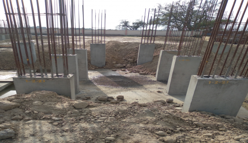 Hostel Block H2 –  column casting completed 22.03.2021