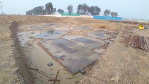 INCUBATION –Footing PCC work completed & layout in progress 05.01.2021