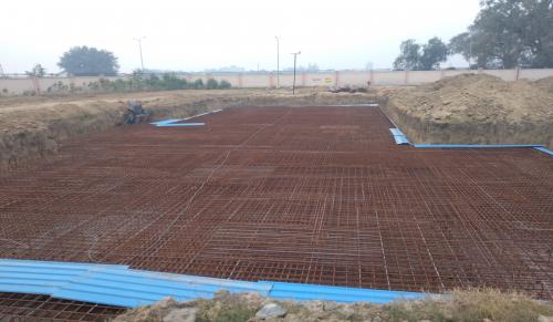 Hostel Block H1 – Steel placing & binding second layer work in progress (23-11-2020)
