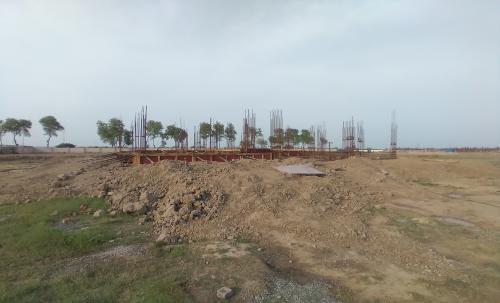 Director's residence – Column casting work in completed soil filling work in completed 22.03.2021