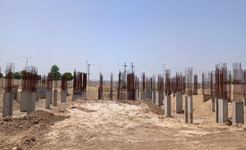 Associate Professors Residence – column casting work in completed 24.05.2021
