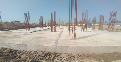 Academic block – 1st pit RCC raft work in Completed layout in progress 01.03.2021
