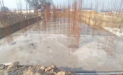 Hostel Block H5 – – Raft RCC work completed 01.02.2021