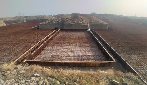 Hostel Block H4 – steel placing & binding second layer in progress -(08-12-2020)