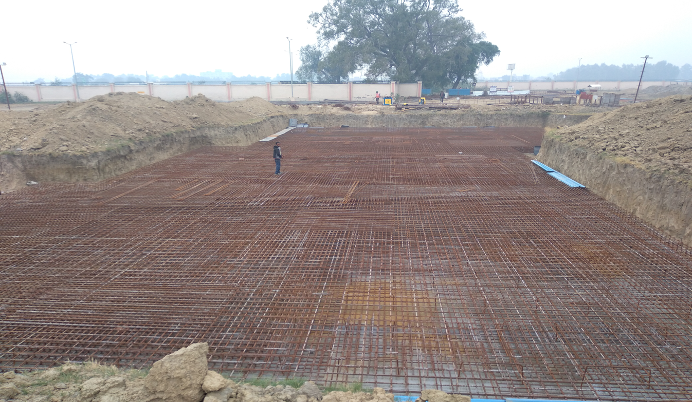 Hostel Block H3 – steel placing & binding second layer in progress (23-11-2020)