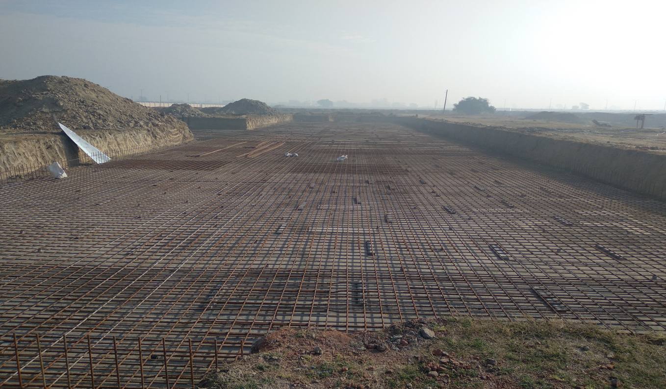 Faculty & Admin block –  Raft steel placing in progress (01-12-2020)