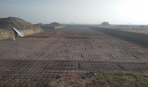 Faculty & Admin block –  Raft steel placing in progress (01-12-2020)
