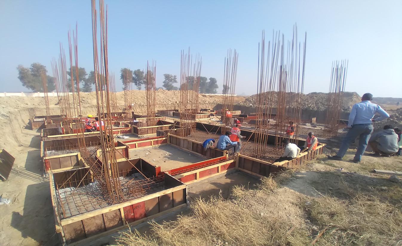 Director's residence – footing steel work in progress (01-12-2020)
