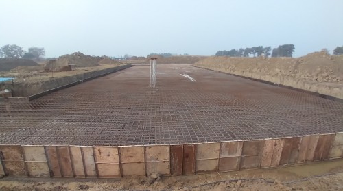 Academic block   2nd pit steel work in progress 05.01.2021