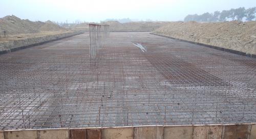 Academic block – 2nd pit steel work in progress (28.12.2020)