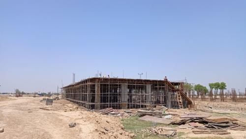 Cafeteria & ShoppingCAFETERIA & SHOPPING - slab shuttering work in progress & steel work in progress 24.05.2021