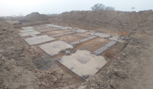 HEALTH CENTRE-Footing PCC work completed & layout in progress (28.12.2020)