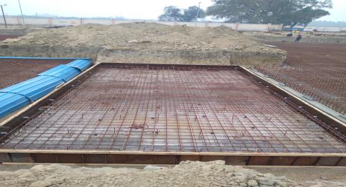 Hostel Block H2 – steel placing & binding in progress (23-11-2020)