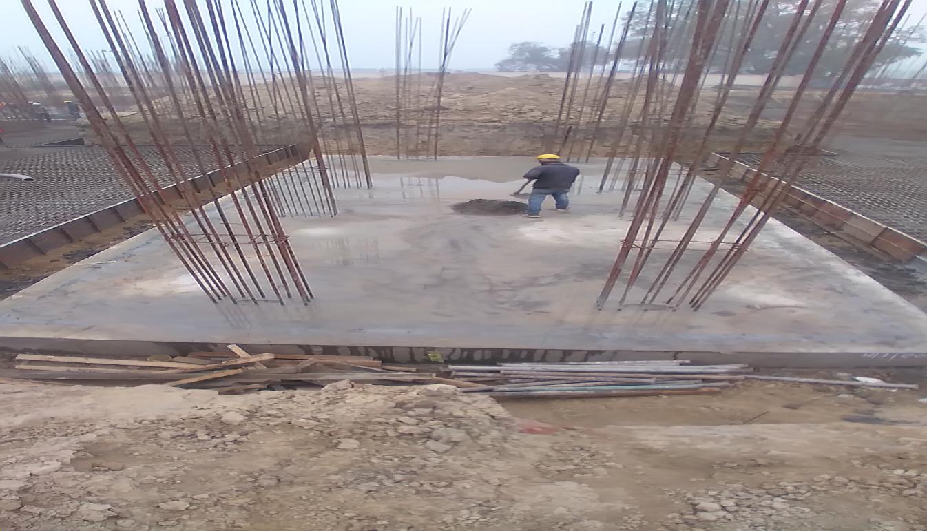 Hostel Block H2 – Raft RCC work Completed 11.01.2021