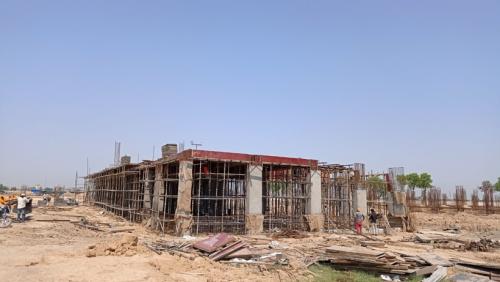 CAFETERIA & SHOPPING - slab shuttering work in progress & steel work in progress 17.05.2021