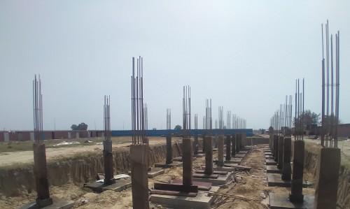HVAC PLANT ROOM -  column casting works in completed 05.04.2021