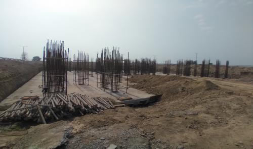 Associate Professors Residence – Raft RCC work Completed layout in progress & Steel work in progress 23.02.2021