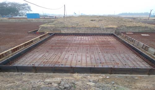 Hostel Block H6 – Steel placing & binding work – second layer work in progress (23-11-2020)