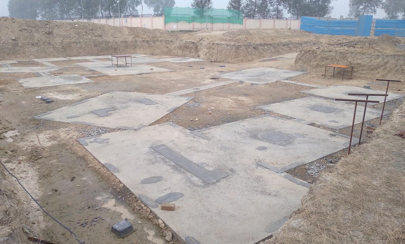 INCUBATION –Footing PCC work completed & layout in progress  (28.12.2020)