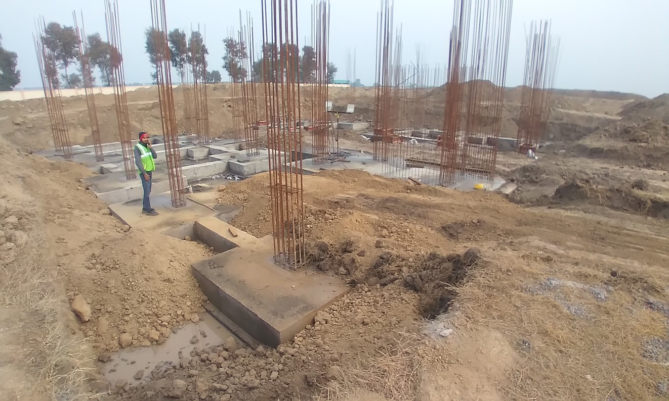 Director's residence – footing RCC work Completed 05.01.2021