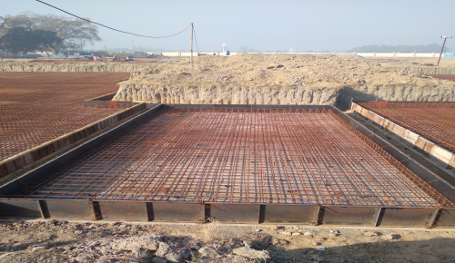 Hostel Block H6 – Steel placing & binding work – second layer work in progress (01-12-2020)